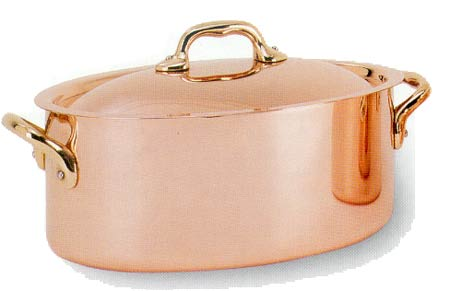 French Copper Stew Pot