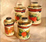 hand painted canister set